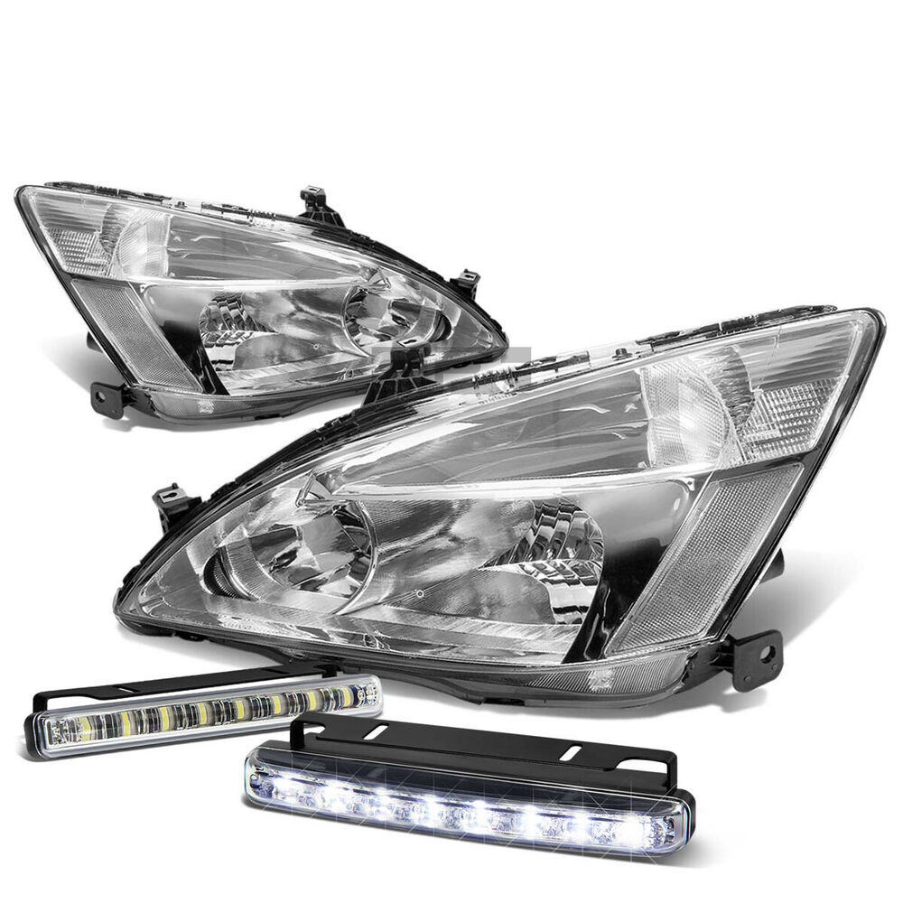 Chrome Headlights Clear Corner Led 8 Smd Fog Light For 03