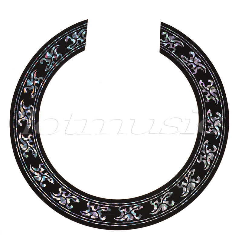 soundhole rosette decal sticker for acoustic classical guitar parts replacement 634458672207 ebay. Black Bedroom Furniture Sets. Home Design Ideas