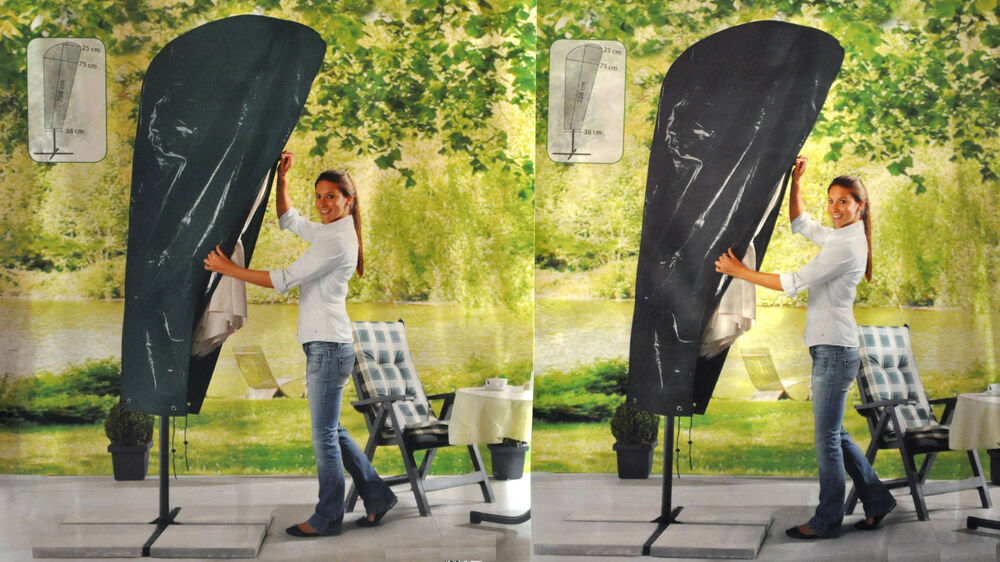 schutzh lle f r ampelschirme schutzhaube sonnenschirmschutzh lle sonnenschirm ebay. Black Bedroom Furniture Sets. Home Design Ideas