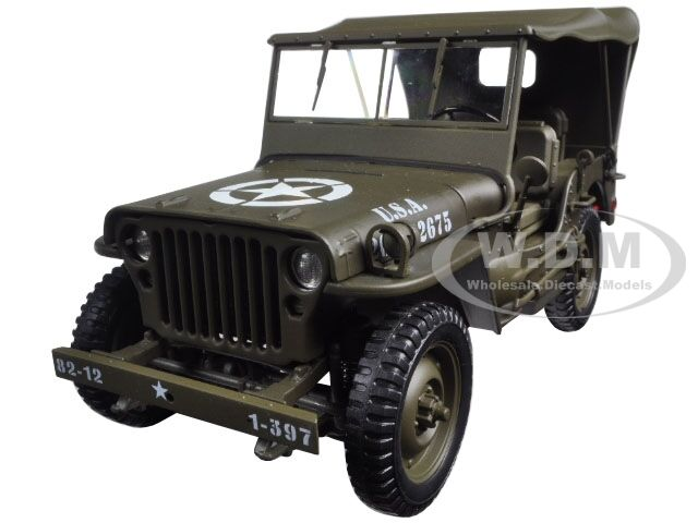 1 4 ton us army jeep vehicle ww 2 hard top 1 18 model car by welly 18036 h ebay. Black Bedroom Furniture Sets. Home Design Ideas