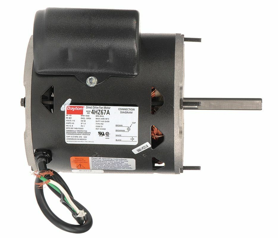1 3 hp direct drive blower motor 1650 rpm 115v dayton for 1 3 hp motor