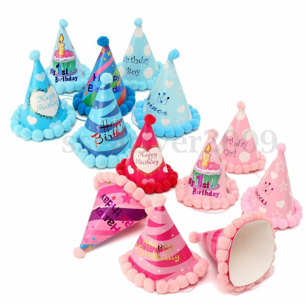 Happy Birthday Party Funny Paper Hats Plush Cap Dress Up