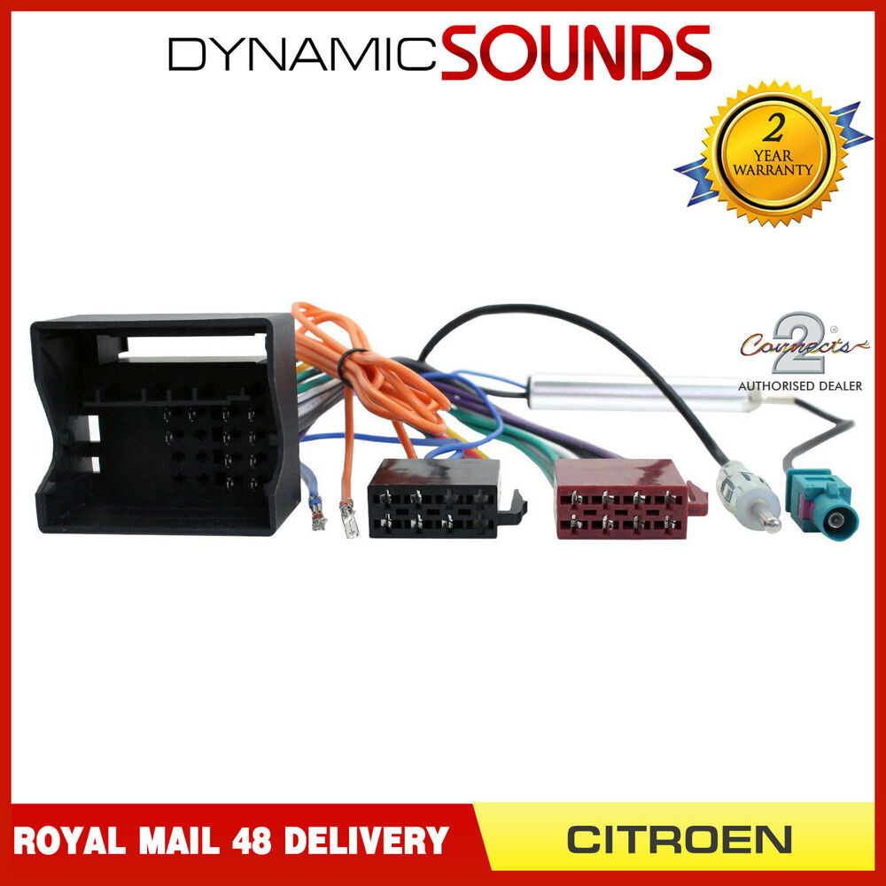 Ct20ct03 Stereo Wiring Harness   Aerial Adaptor For Citroen C2 C3 C4 C5 C6 C8 Ds