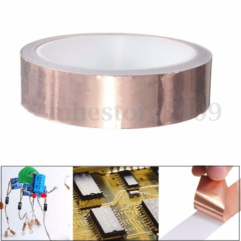 Copper Insulation Tape : Mm m emi single sided foil tape conductive adhesive