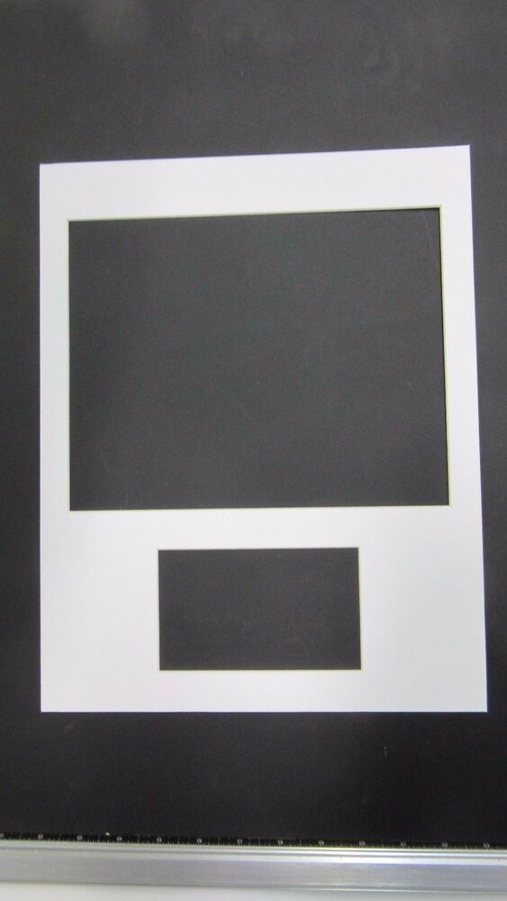 picture frame mat 11x14 for 10x8 and 3x5 openings color options ebay. Black Bedroom Furniture Sets. Home Design Ideas