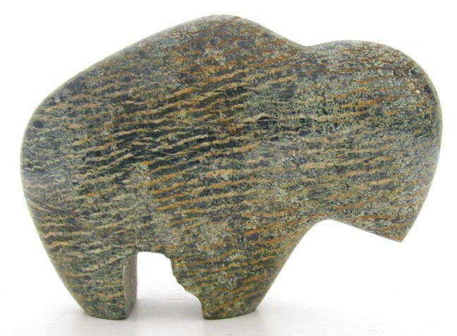 Small carved stone buffalo fire ice store s ebay