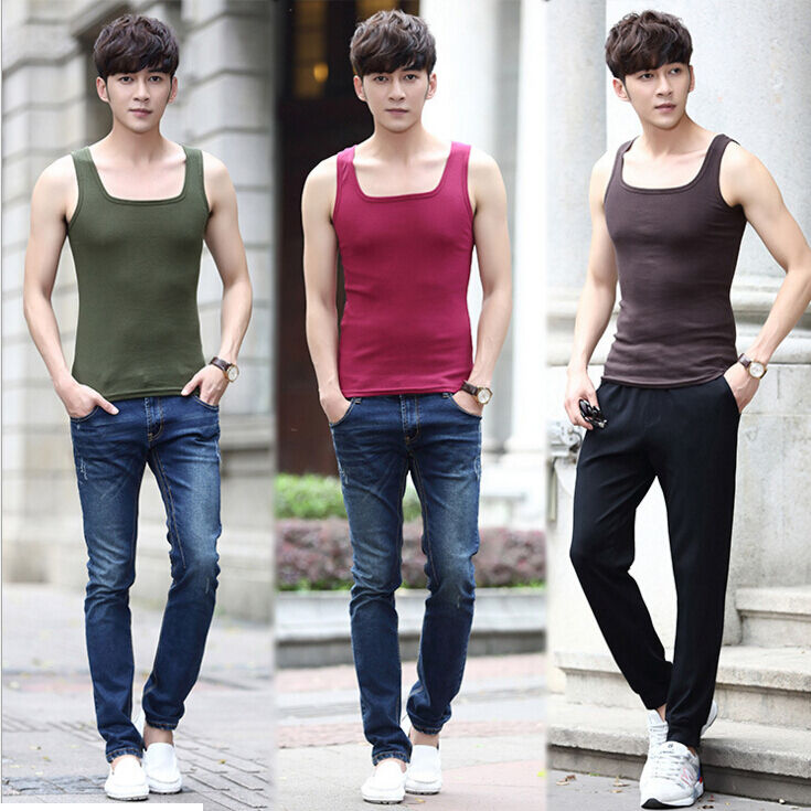 Men Gym Muscle Sleeveless Shirt Tank Top T-shirt Bodybuilding Sport Fitness Vest | EBay