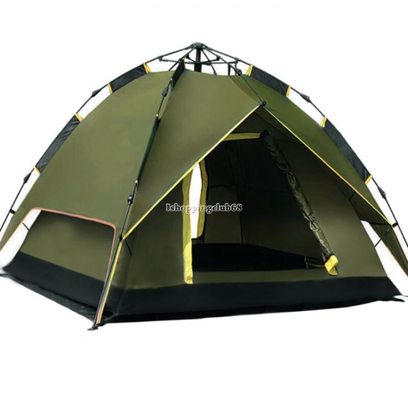 automatic instant outdoor pop up family large tent for 4 people hiking camping ebay. Black Bedroom Furniture Sets. Home Design Ideas