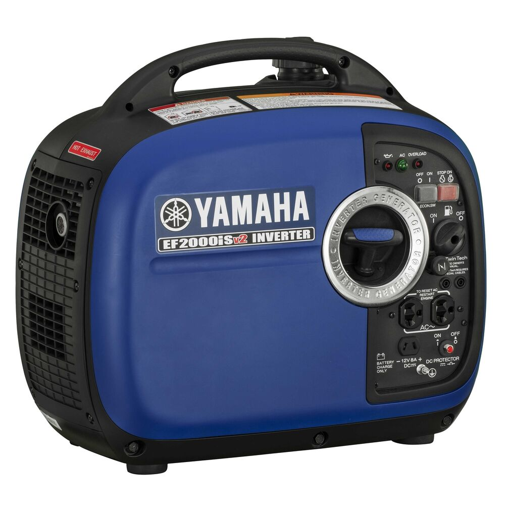 Yamaha ef2000isv2 2000 watt portable digital quiet for Honda vs yamaha generator