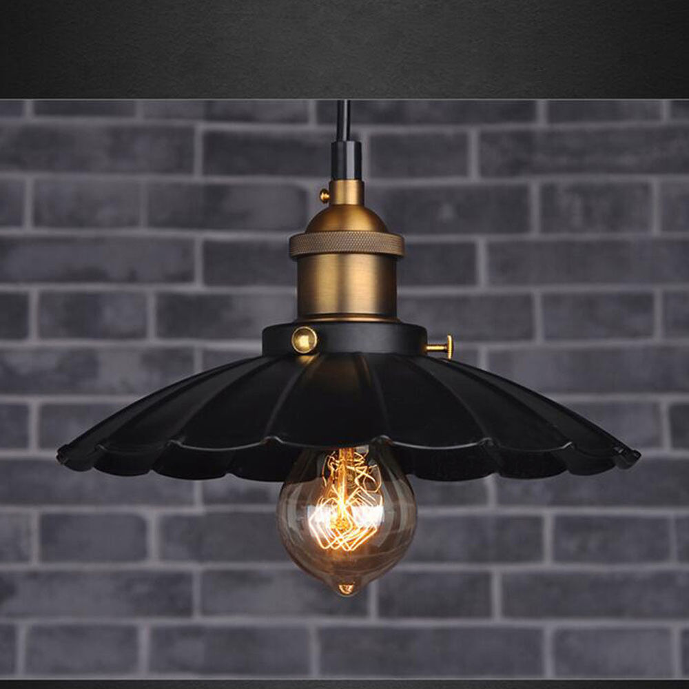 Retro industrial iron vintage loft ceiling light for A lamp and fixture
