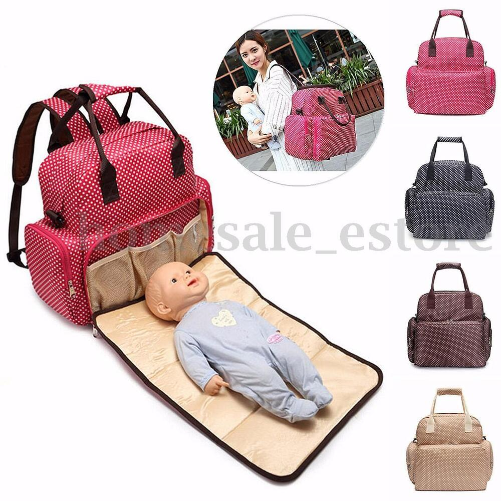 large baby diaper nappy backpack changing bag mummy tote handbag shoulder bag. Black Bedroom Furniture Sets. Home Design Ideas