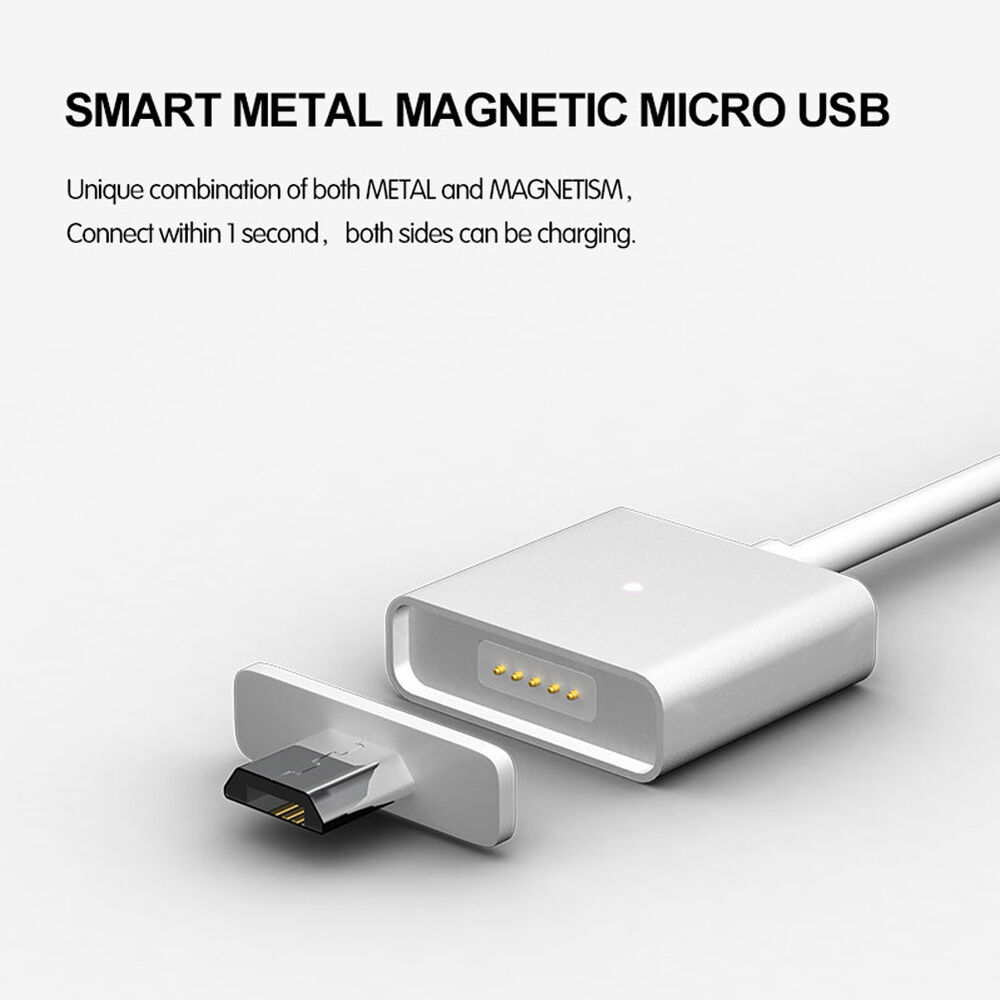 silver magnetic induction usb charger charging data cable. Black Bedroom Furniture Sets. Home Design Ideas