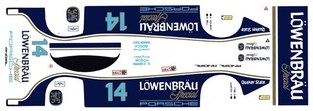 #3 Canadian Porsche 962 1987 1//24th 1//25th Scale Waterslide Decals