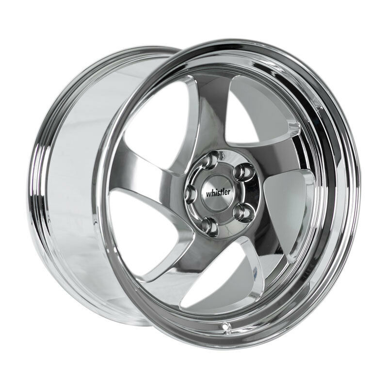 18x8.5 +35 Whistler KR1 5x114.3 Chrome Wheel Fit ACURA RSX