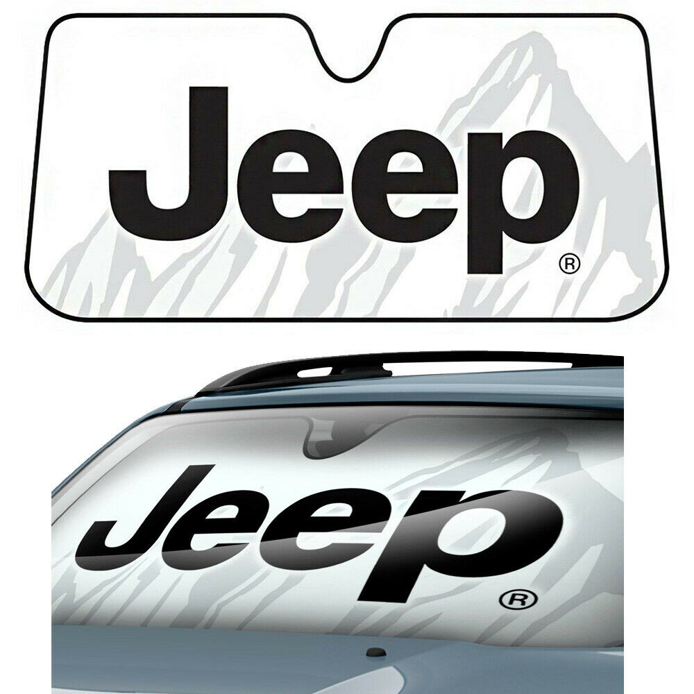 Details about Jeep Classic Elite Mopar Windshield Folding Front Reflective Sun  Shade Sunshade 014b4f1ee4d