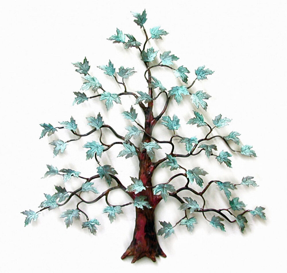 Wall art magnificent maple tree metal wall sculpture for Tree wall art