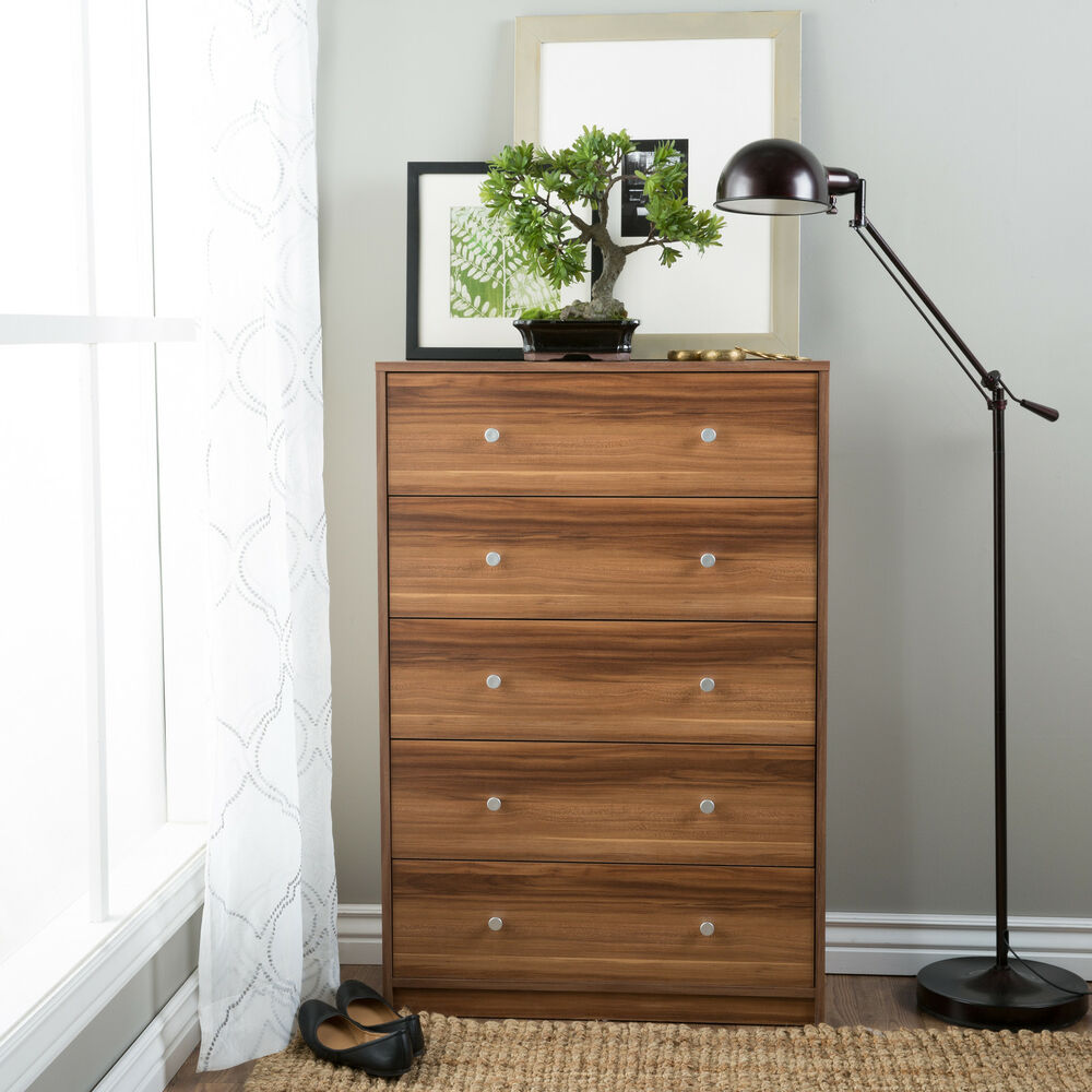 Portland Five Drawer Chestnut Chest Of Drawers Ebay