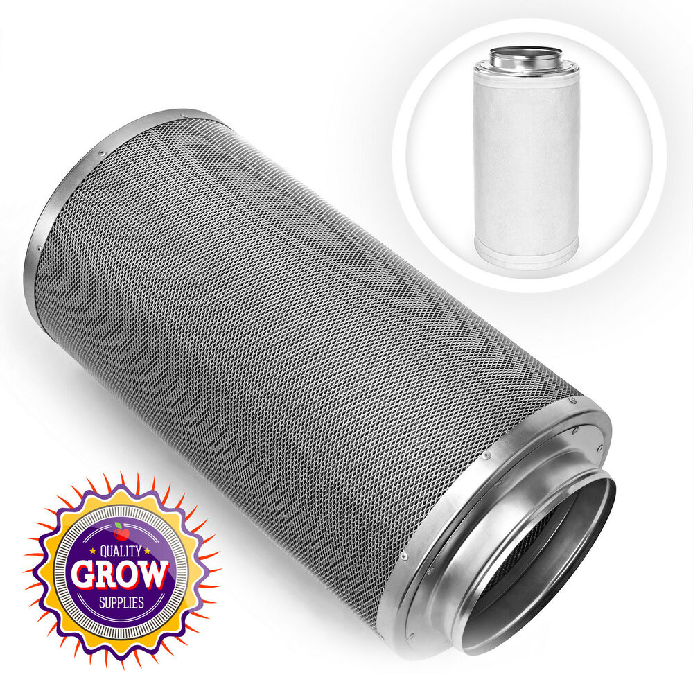 Carbon Air Cleaner : Hydroponic carbon air filter with quot flange odor control