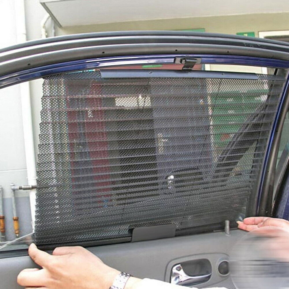 car retractable side window sun shading curtain roller blind sunshade sun shades ebay. Black Bedroom Furniture Sets. Home Design Ideas