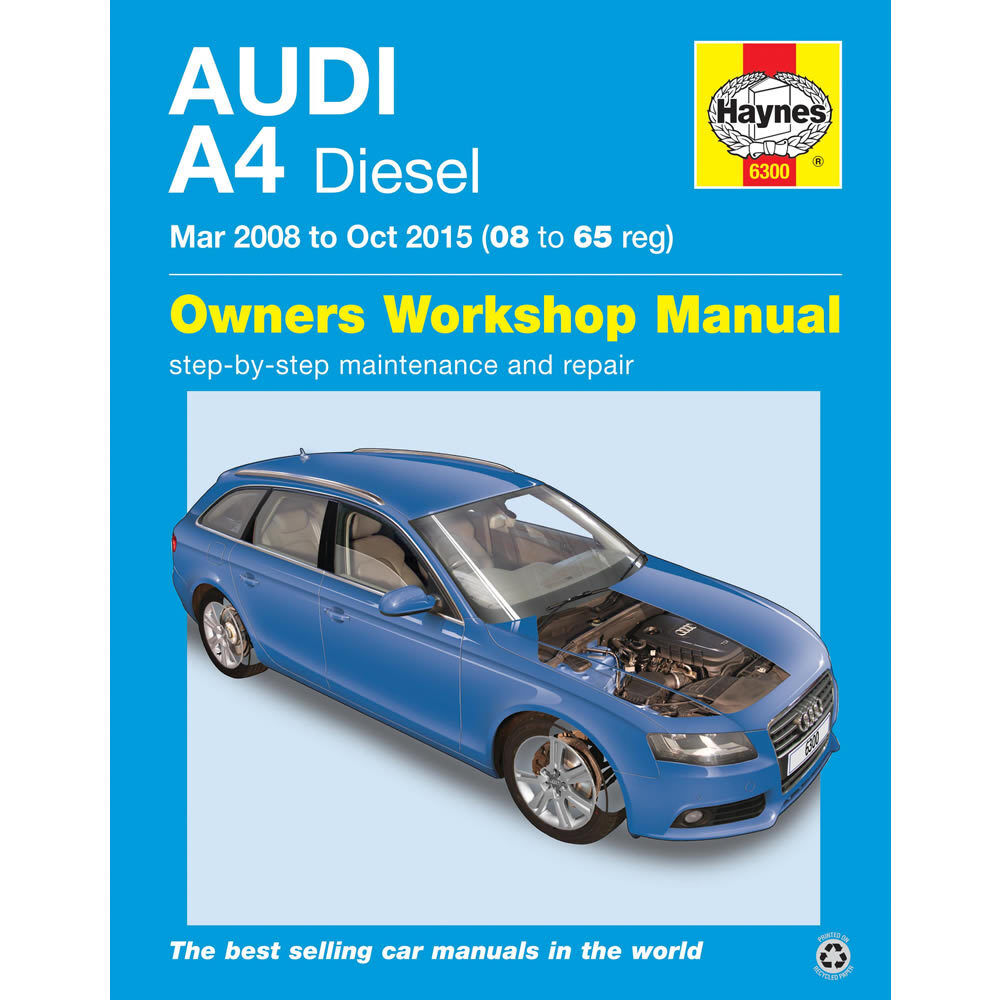 Audi A4 Haynes Manual 2008-15 inc Avant 2.0 Diesel Workshop Manual | eBay