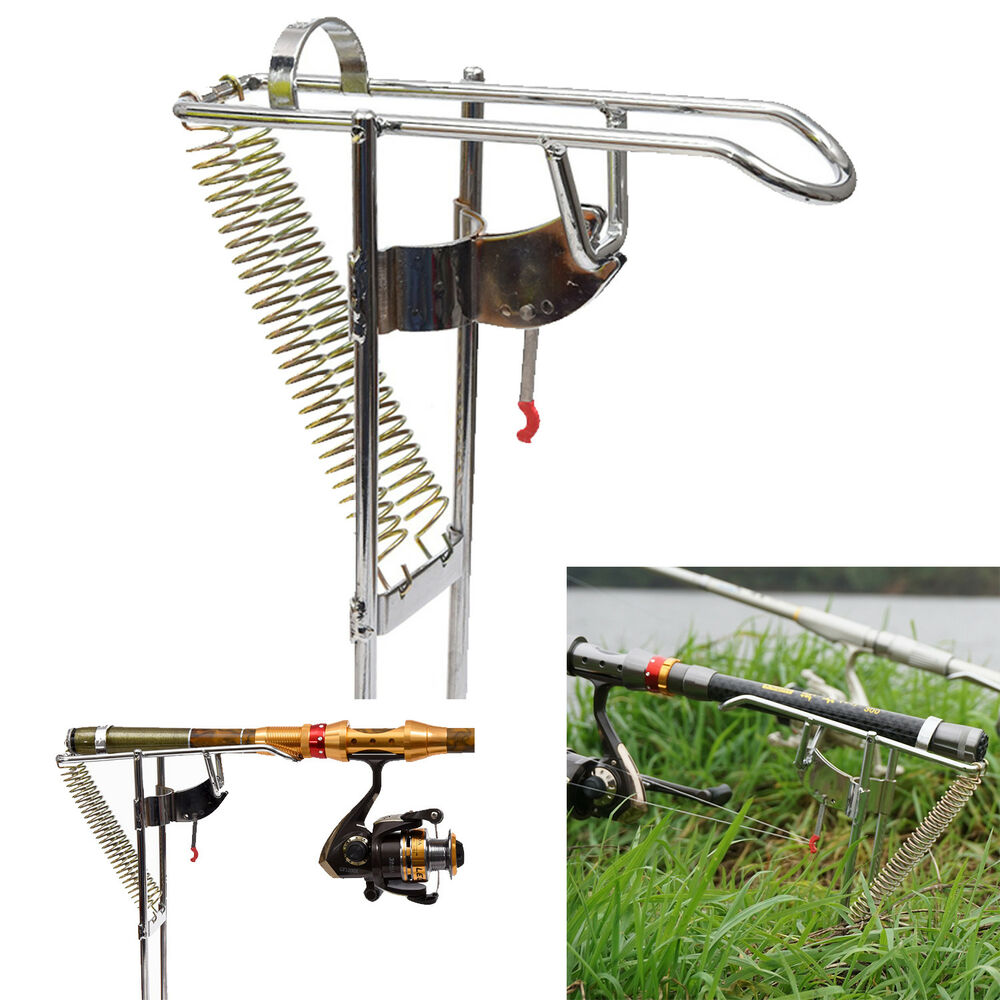 Adjustab automatic double spring angle pole fish pole for Fish rod holders