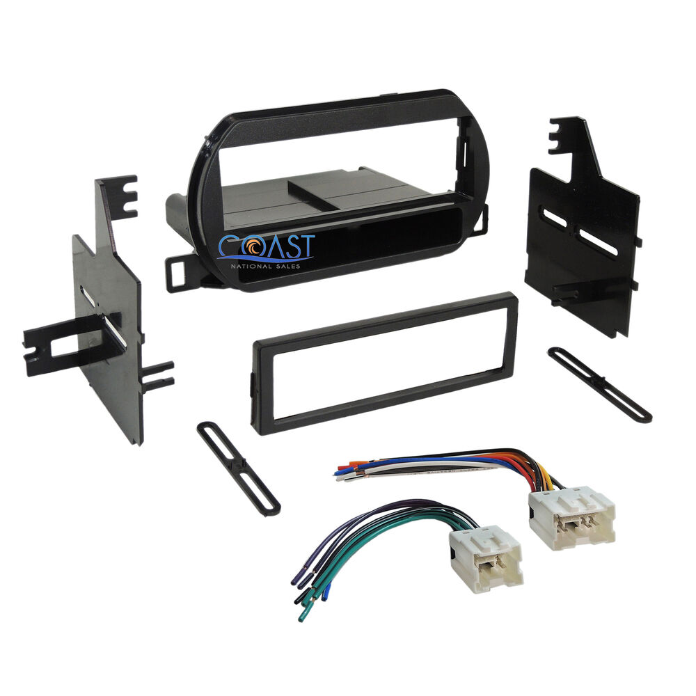 Car radio stereo single din dash kit wire harness for