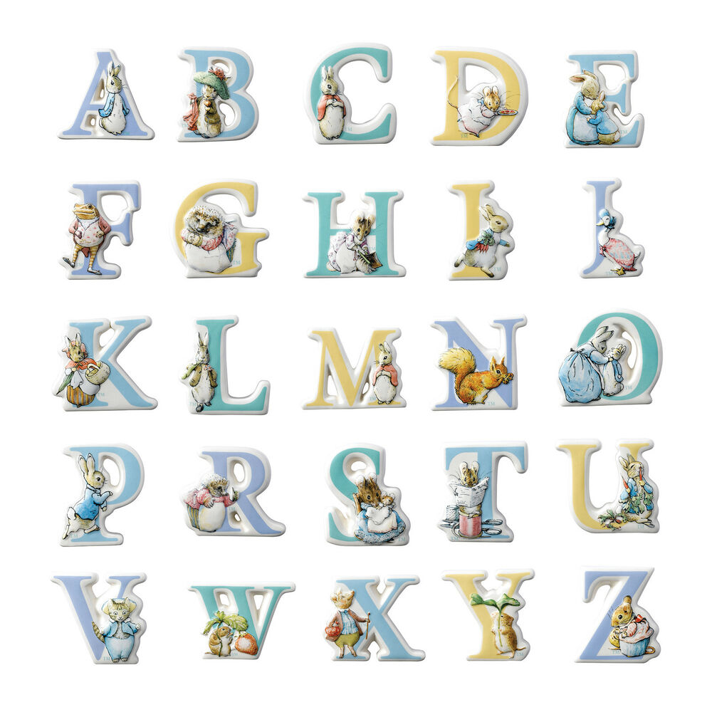 Beatrix Potter Peter Rabbit Characters Alphabet Letters