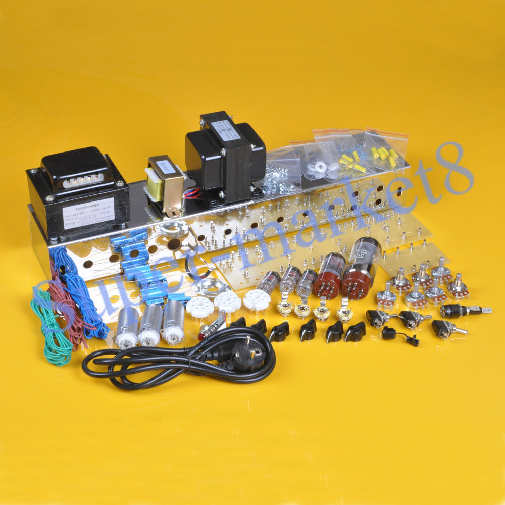 Bass Guitar Amp Kit : bassman tweed 5f6a guitar bass amp amplifier diy kit deluxe chassis chrome plate ebay ~ Russianpoet.info Haus und Dekorationen