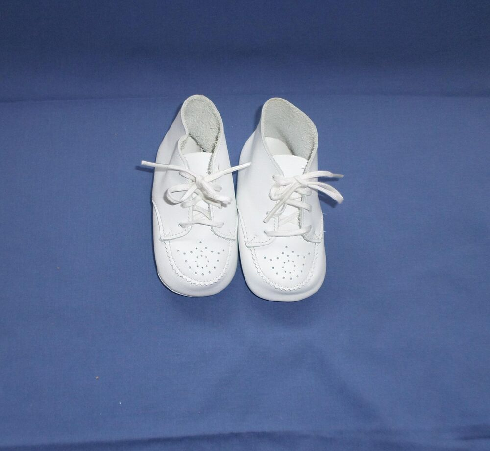 STRIDE RITE BABY SHOES White High Tops w Breathing Holes