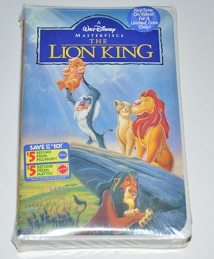 Walt Disney The Lion King VHS NEW Sealed Clamshell 1994 Kmart 1st Time On Video
