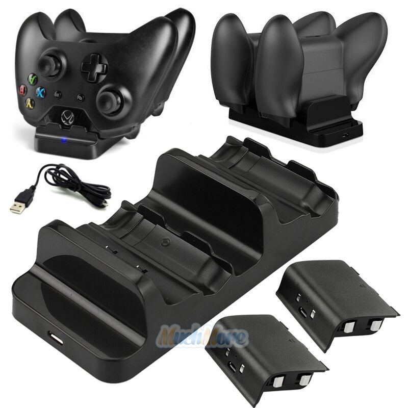 Dual Charging Dock Controllers Charger 2x Rechargeable