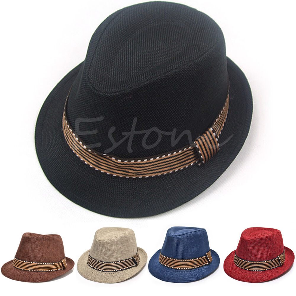 Brand New Fedora Trilby Hats For Boys - Black Pin-Striped One Size - Will generally fit kids ages: 2 to 6 or 8 years We carry many styes of Fedora Trilby Hats for kids, men & women5/5(1).