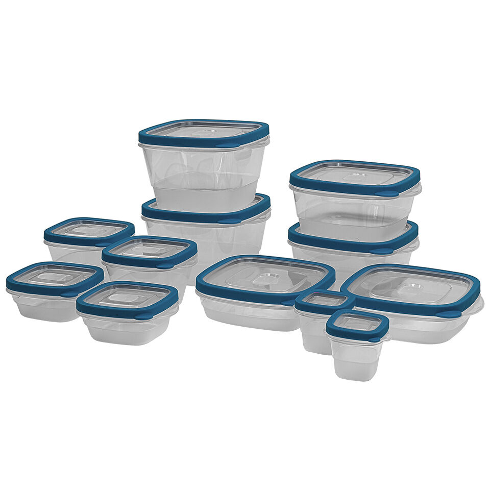 24 piece plastic food storage containers set with vents. Black Bedroom Furniture Sets. Home Design Ideas
