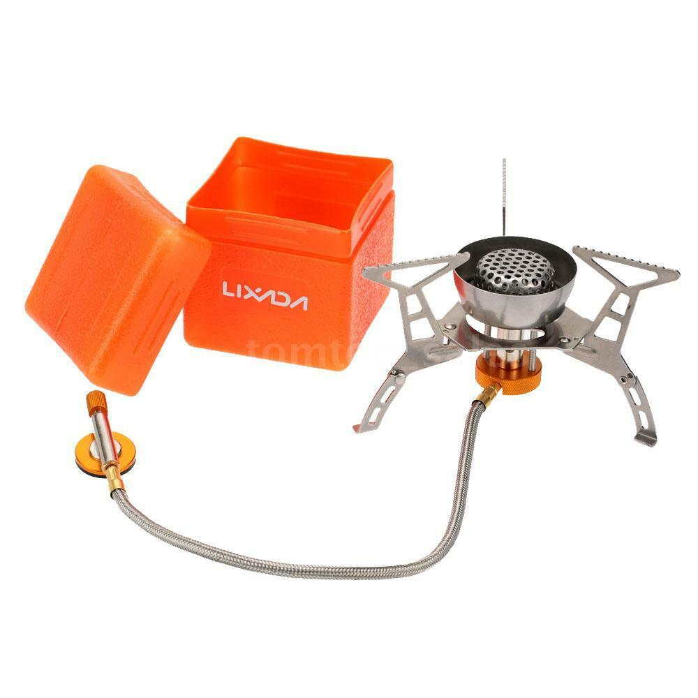 Mini Stove: Mini Backpacking Outdoor Gas Butane Propane Canister Camp