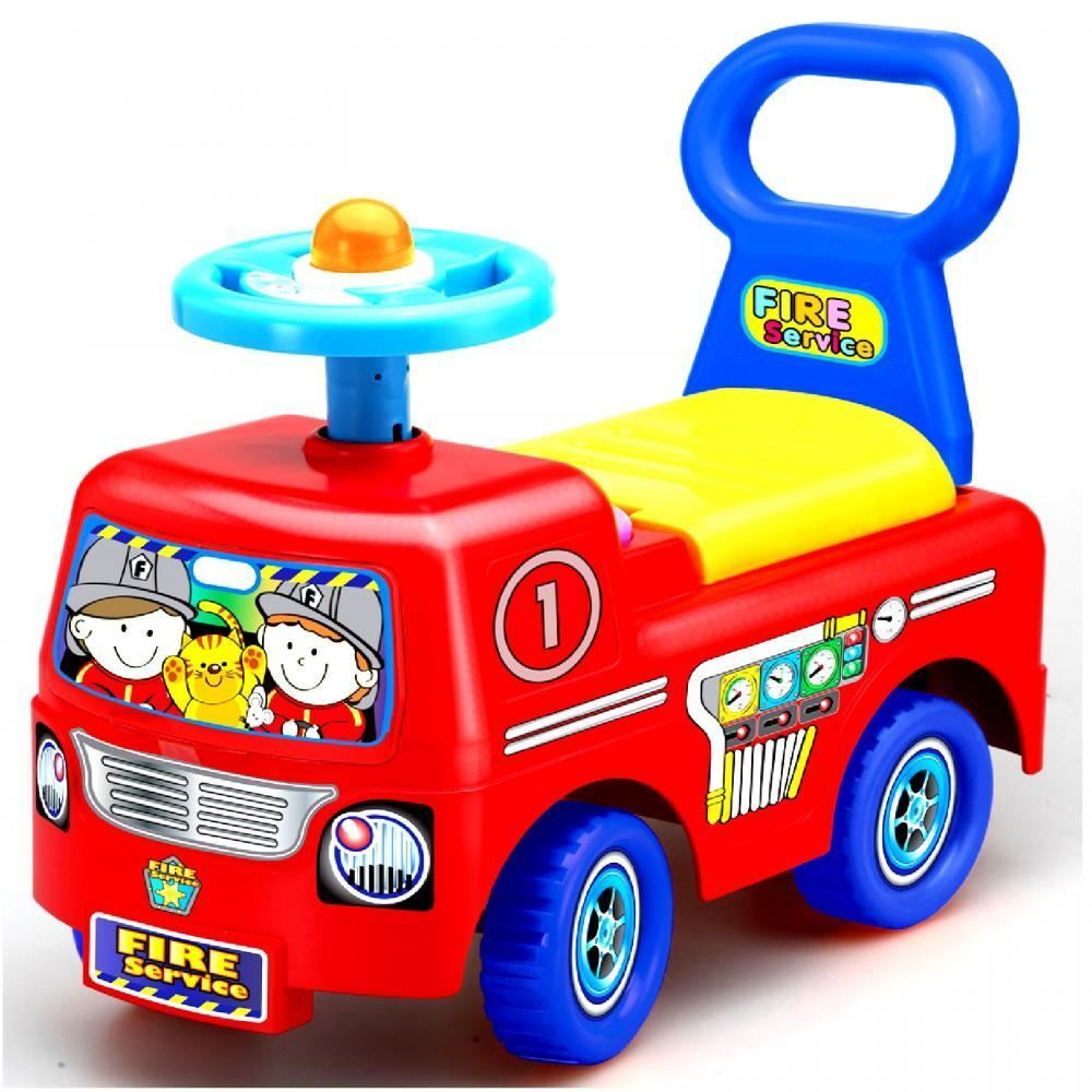 TODDLER INFANT RIDE ON CAR VEHICLE FIRE TRUCK KIDS PUSH