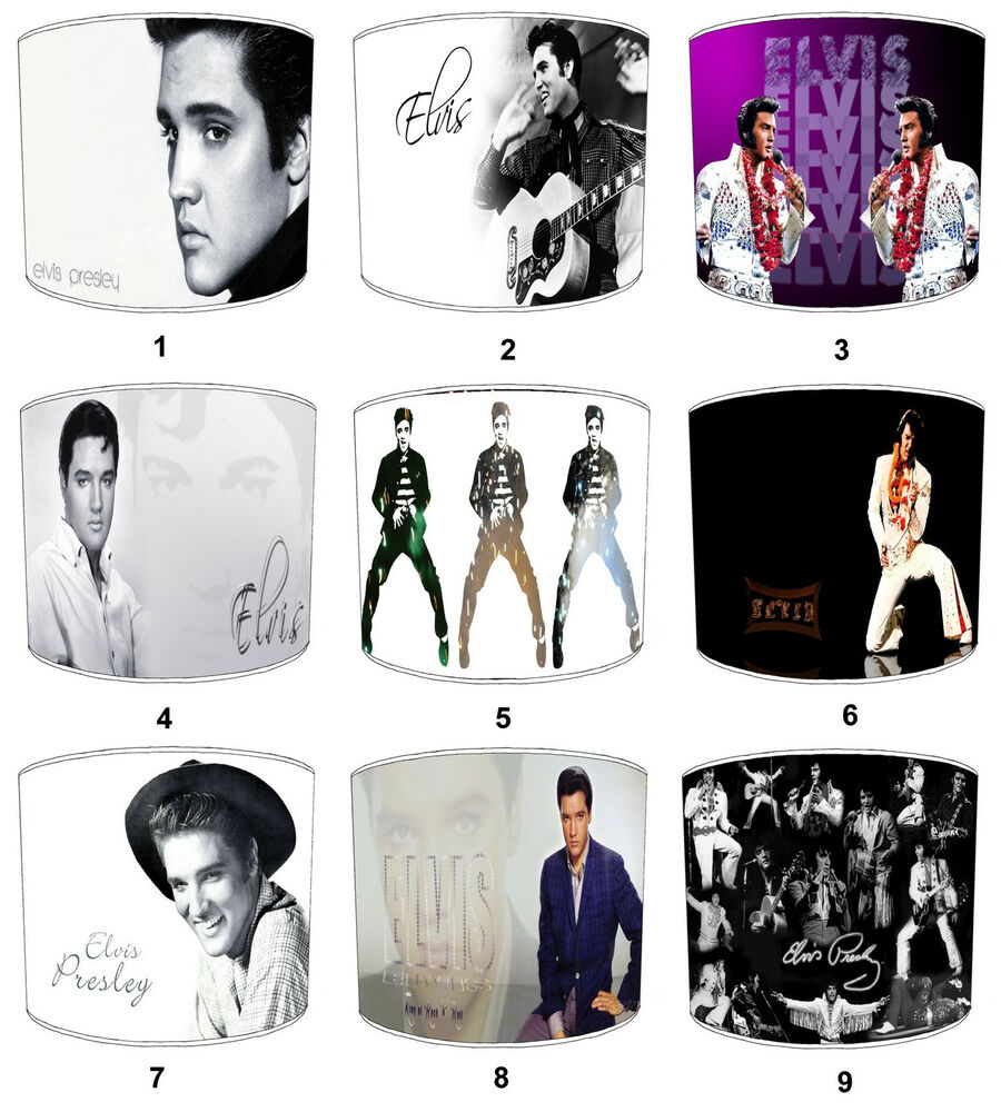 Elvis Presley The King Lamp Shades Ideal To Match Bedroom