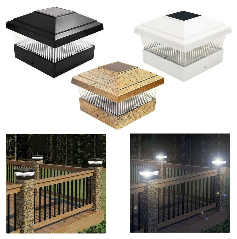 Outdoor Decking Post Solar Led Powered Light Garden Deck
