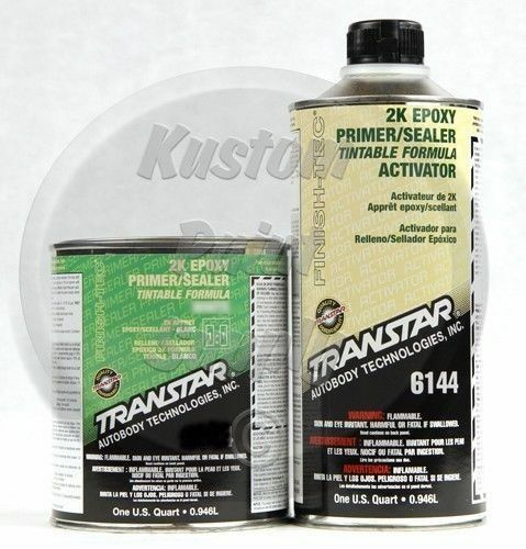 transtar 6134 6144 2k epoxy gray primer sealer 1qt kit. Black Bedroom Furniture Sets. Home Design Ideas