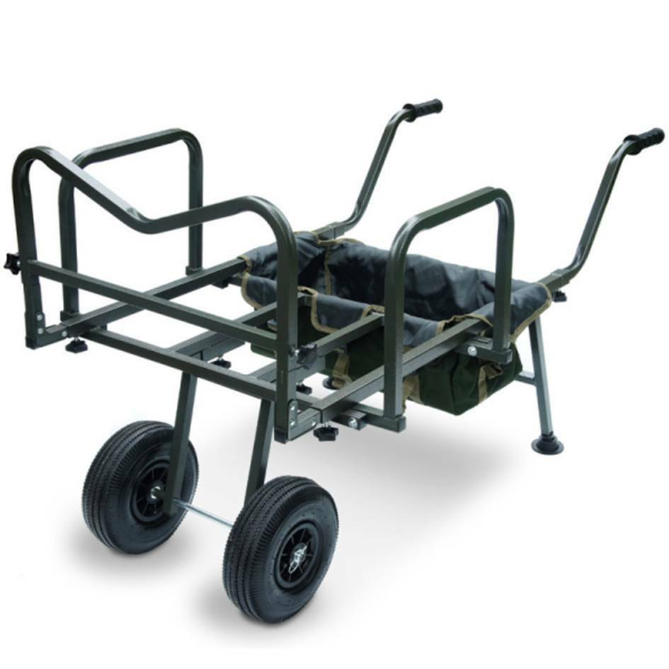 new ngt dynamic carp fishing barrow trolley double wheeled. Black Bedroom Furniture Sets. Home Design Ideas