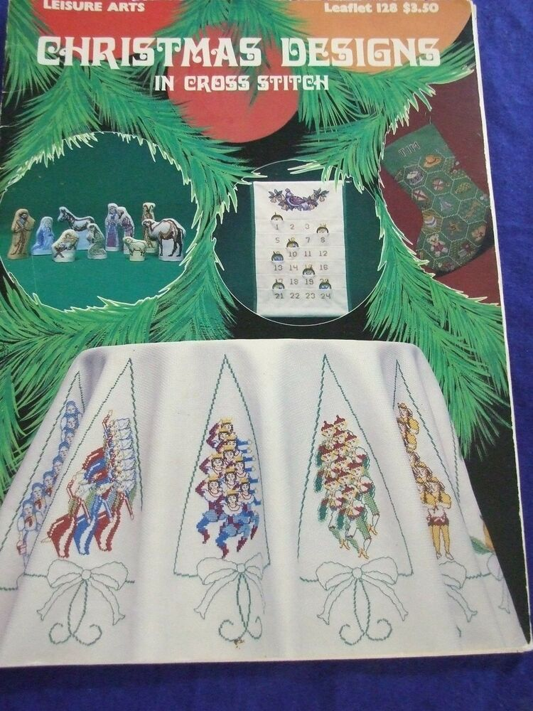 Vintage leisure arts christmas counted cross stitch