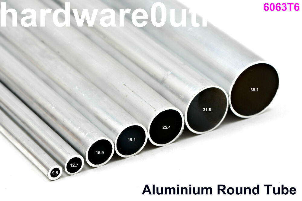 round aluminium tube pipe bar 8 diameters available 6 cut lengths available ebay. Black Bedroom Furniture Sets. Home Design Ideas