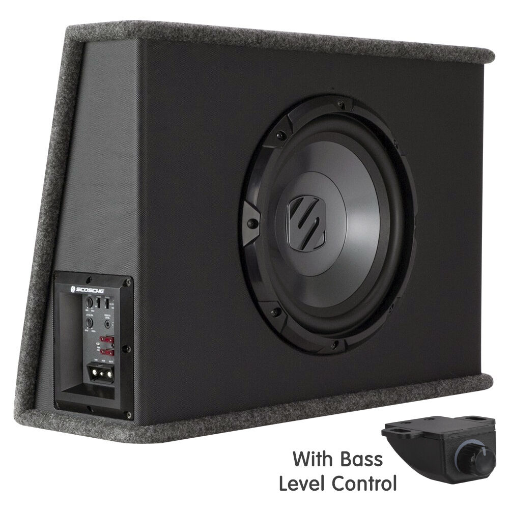 10 quot  active powered slim 250w car subwoofer enclosure with Home Subwoofers Subwoofer Dog