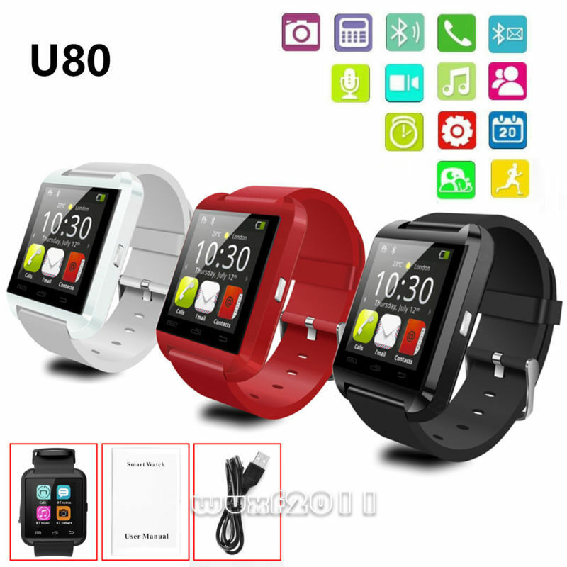 iphone wrist watch u80 bluetooth smart wrist smartwatch for iphone 12507