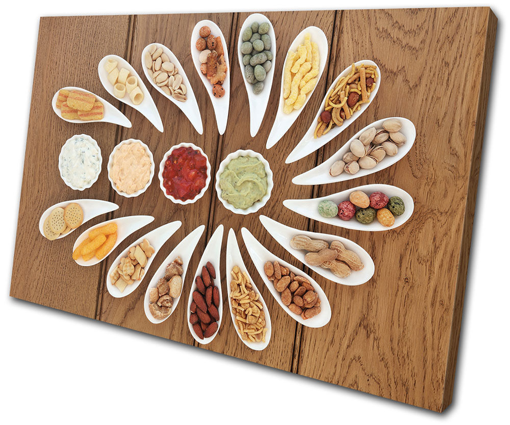 Kitchen Canvas Wall Decor: Spices Indian Food Kitchen SINGLE CANVAS WALL ART Picture