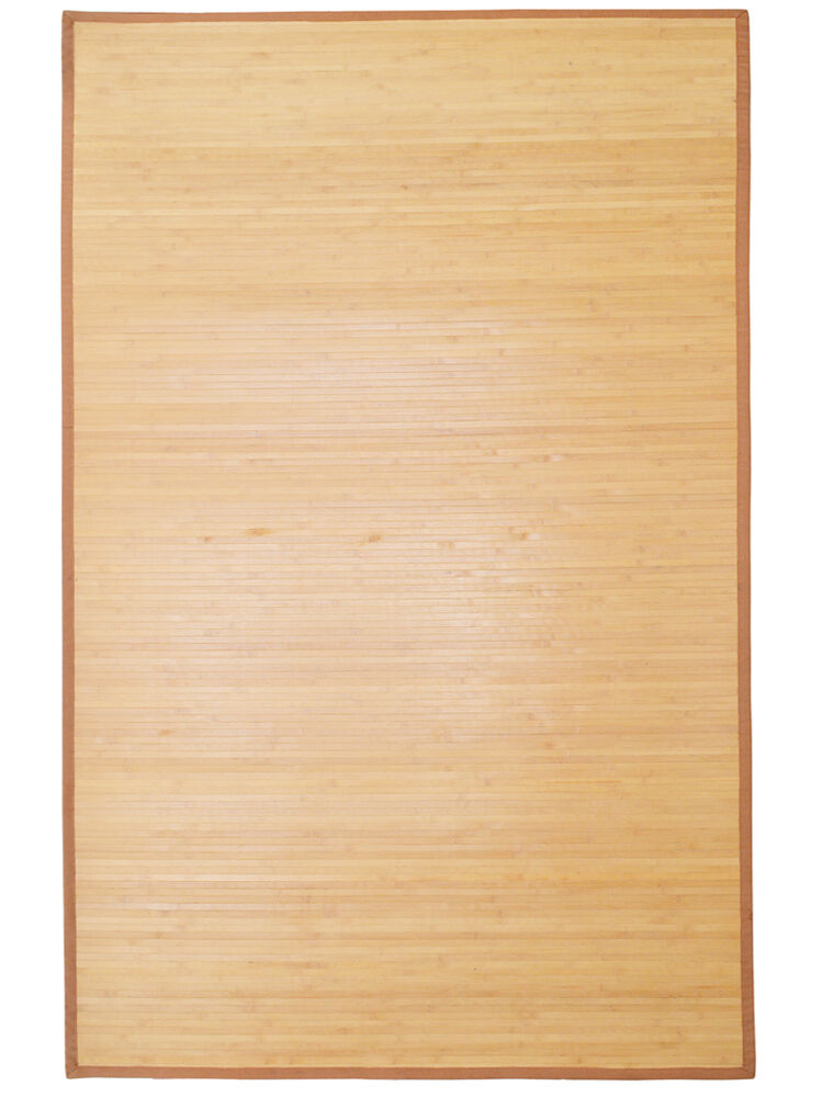 5 39 x 8 39 natural bamboo slat area rug floor carpet mat w for Indoor outdoor wood flooring