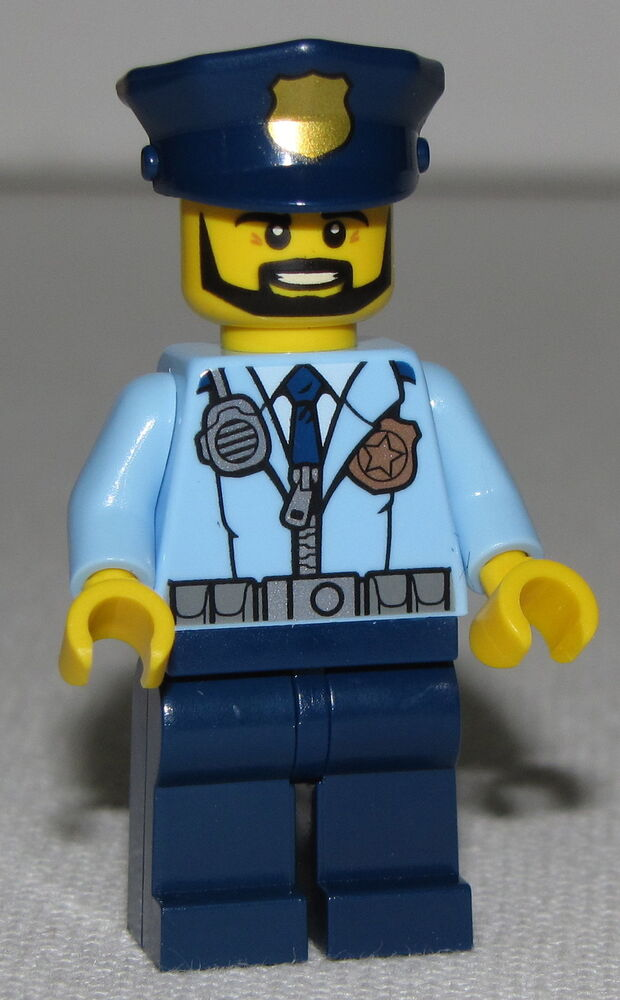 Lego New Police City Officer Prison Island Police ...