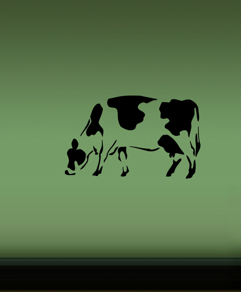 Cow farm animal wall vinyl sticker decals art mural d220 for Animal wall mural