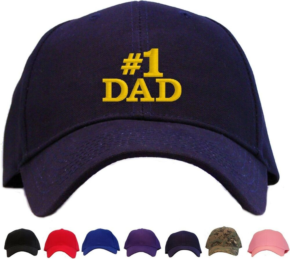 1 Dad Embroidered Baseball Cap Available In 7 Colors