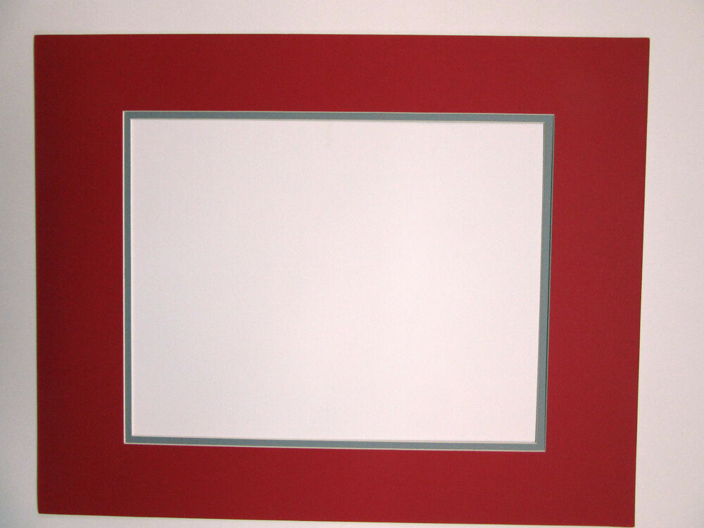 Picture Framing Mat Red With Grey Liner Mat 20x24 For