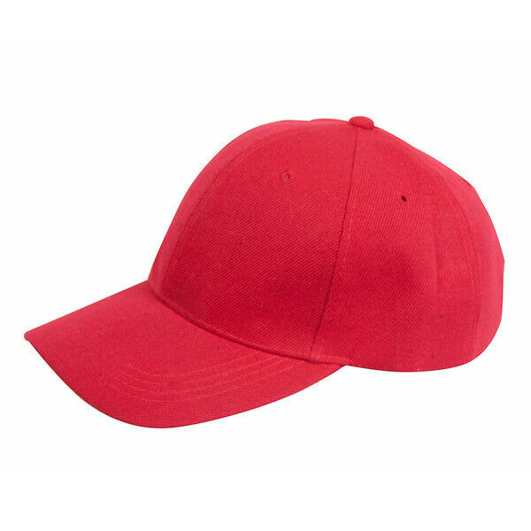 Details about PLAIN BASEBALL CAPS RED HAT CAP NEW a3025c87fe5